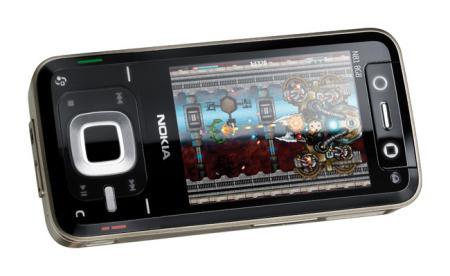 Nokia N81 mobile phone showing Nokia N-Gage gaming platform
