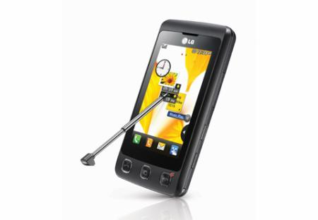 LG KP500mobile phone with touchscreen