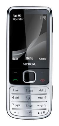 Nokia 6700 review - shown in silver from the front