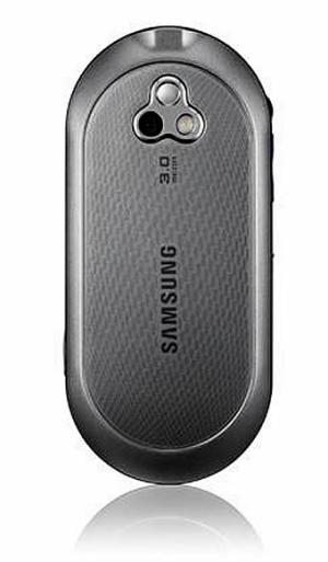 Samsung Beat DJ music phone showing its camera