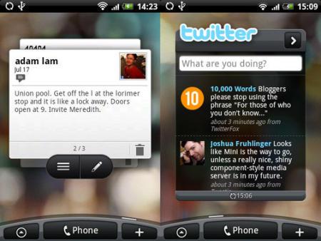 HTC Hero Peep Twitter app