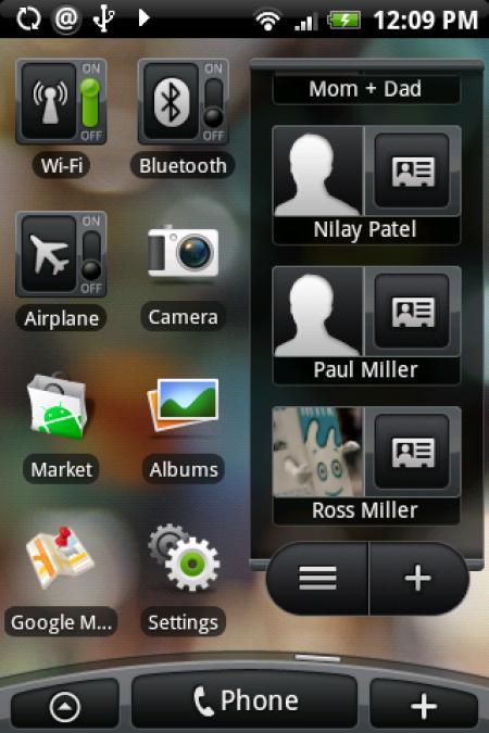 HTC Hero user interface