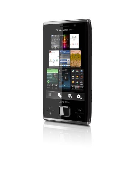 Sony Ericsson Xperia X2 smartphone in profile