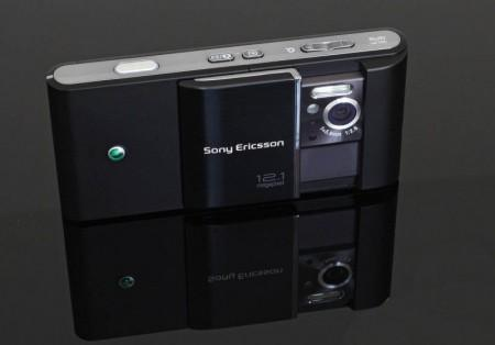Sony Ericsson Satio showing camera