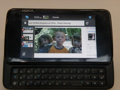 Nokia N900 with Firefox