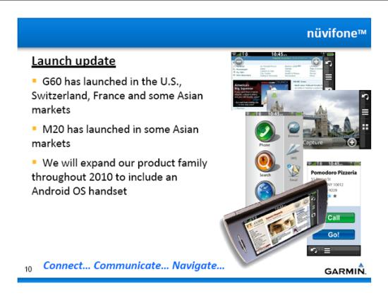 Garmin Nuvifone with Android