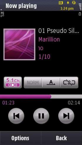 Samsung Omnia HD music player