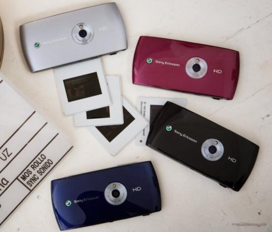 Sony Eicsson Vivaz phoen in different colours
