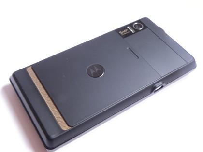 Motorola Milestone phone showing camera