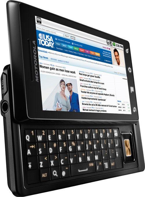 Motorola Milestone Web browsing