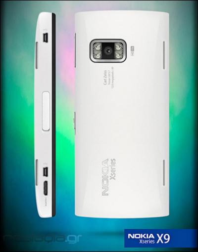 Nokia X9 phone showing camera