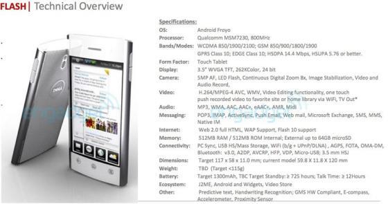 Dell Flash smartphone specification