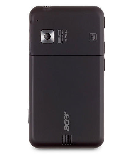 Acer Stream phone showing camera