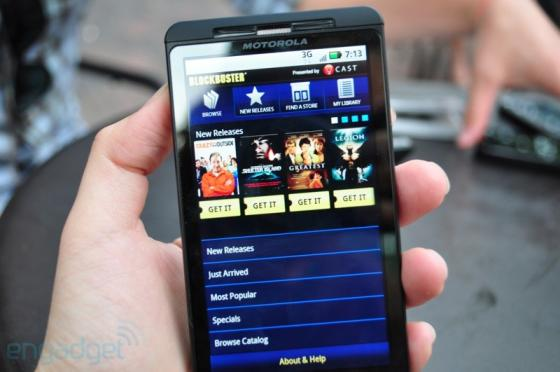 Motorola Droid X with an Android app