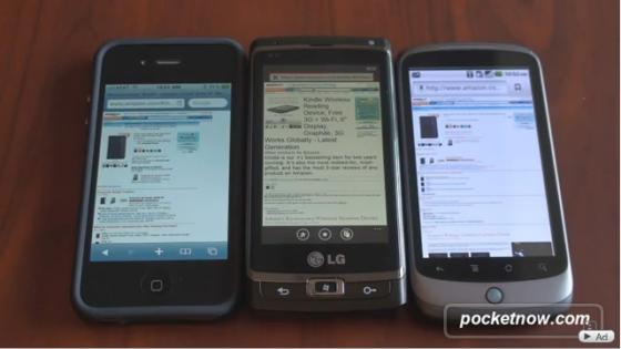 Windows Phone 7 vs Android 2.2 vs iPhone4