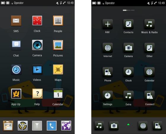 Nokia Meego home screen