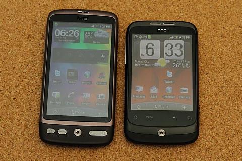 HTC Desire vs HTC Wildfire