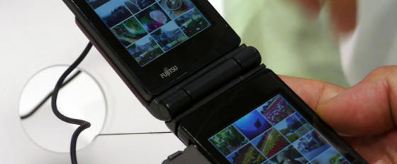Fujitsu dual touchscreen phone