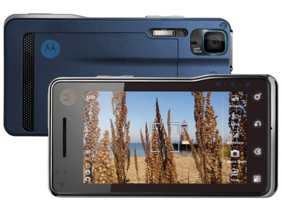 Motorola MILESTONE XT720 showing camera