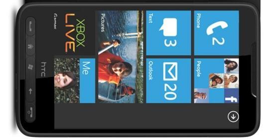HTC HD7 homescreen