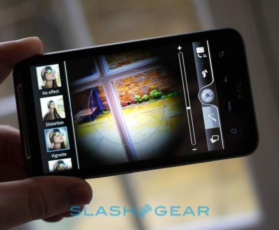HTC Desire HD taking photo