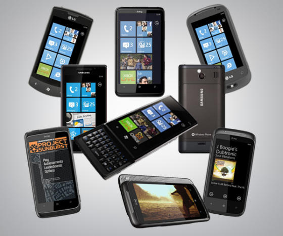 Windows Phone 7 phones compared