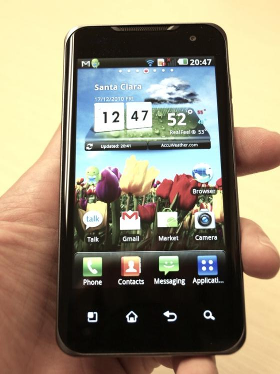 LG Optimus 2X Android phone