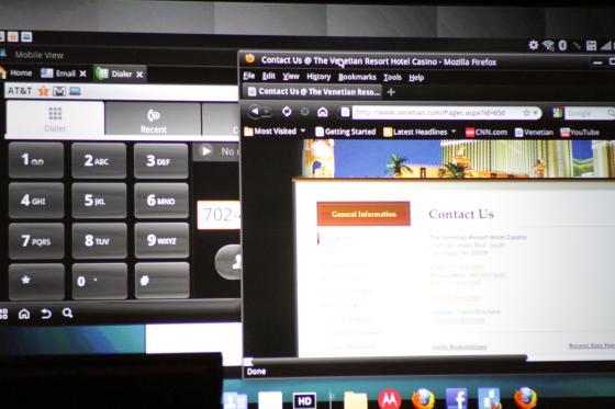 Motorola Atrix 4G webtop app
