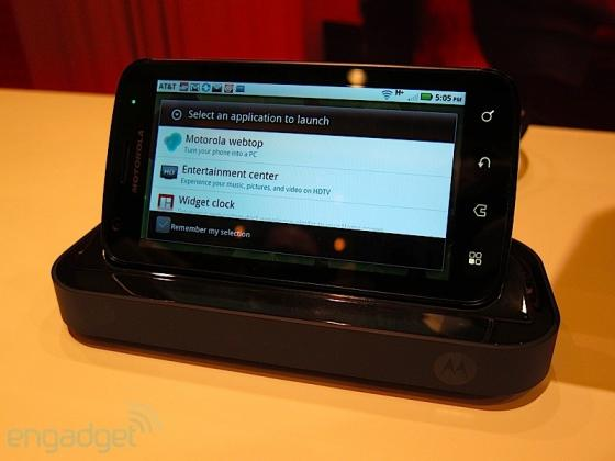 Motorola Atrix multimedia dock