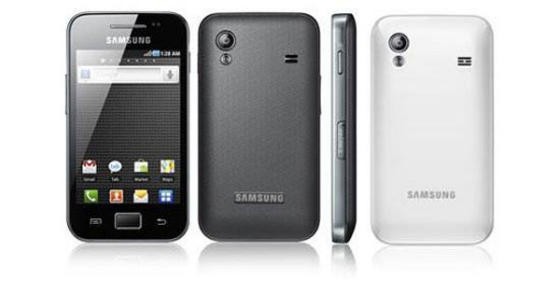 Samsung Galaxy Ace front and back