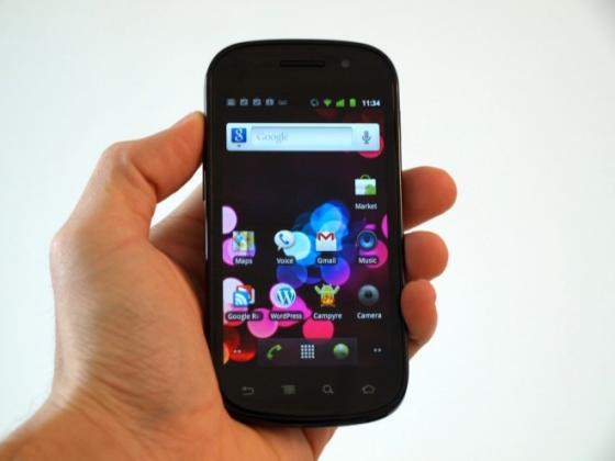 Google Nexus S in a hand