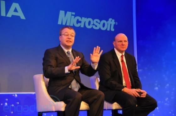 Nokia and Microsoft CEOs