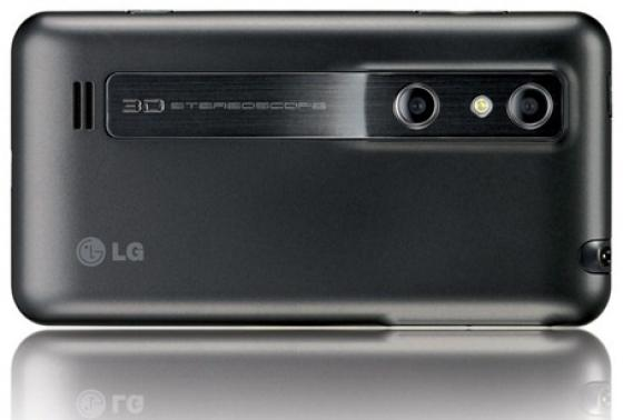 LG Optimus 3D showing the 3D camera