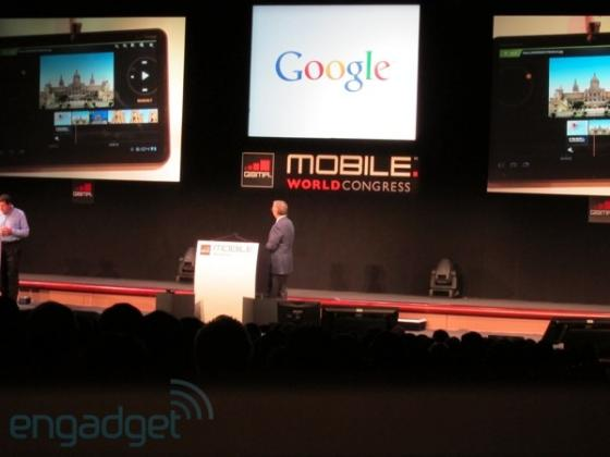 Google Eric Schmidt at MWC 2011