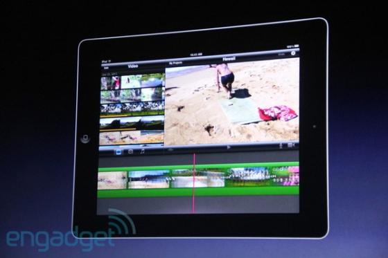 iMovie on the iPad2
