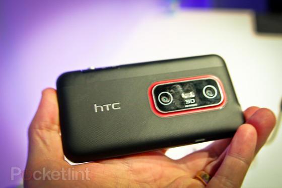 HTC Evo 3D showing 3D camera