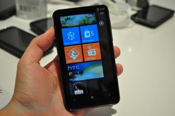 HTC HD7S Windows Phone 7 device