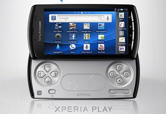Sony Ericsson Xperia Play showing interface