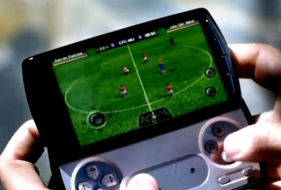 Sony Ericsson Xperia Play with FIFA 10