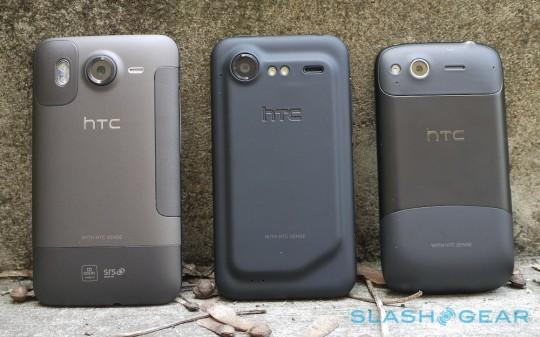 HTC Desire HD, Incredible S, and Desire S