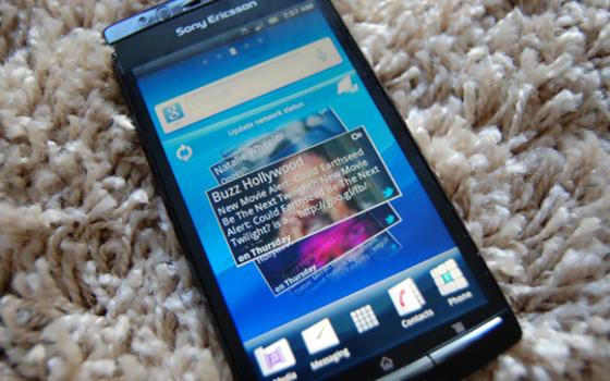 Sony Ericsson Xperia Arc user interface