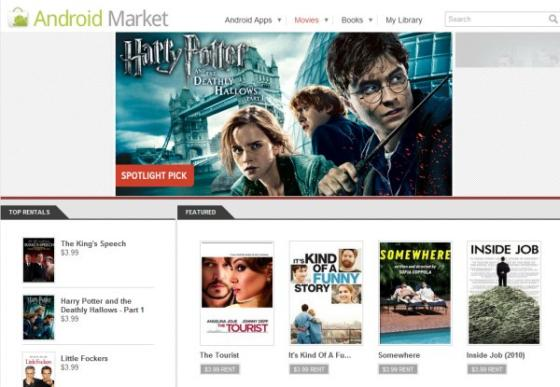 Movies from Google Market