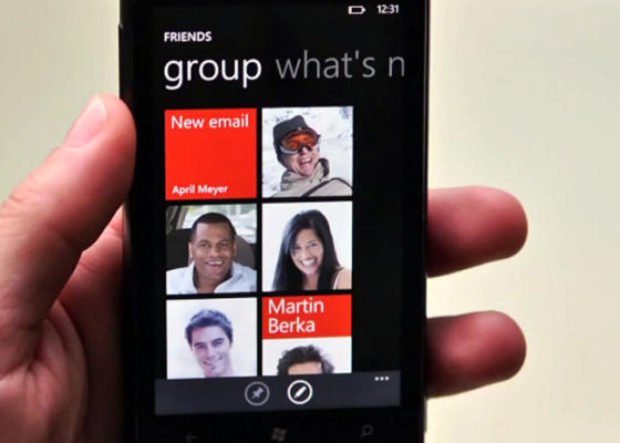 Windows Phone 7 Mango - Groups app