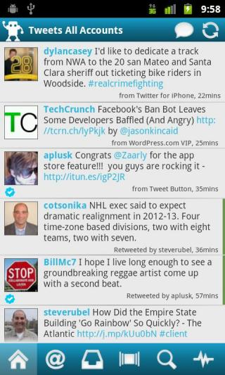 Twidroyd Twitter app for Android