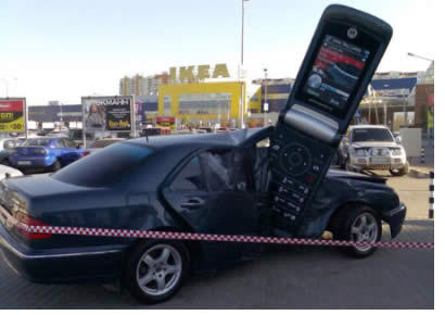 Mobile phone accident