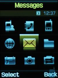 Samsung D900 mobile phone user interface