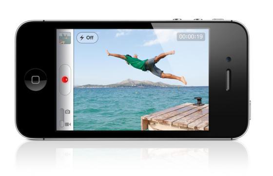 Apple iPhone 4S showing video capture