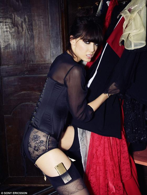 Daisy Lowe and the Sony Ericsson Xperia Ray 2