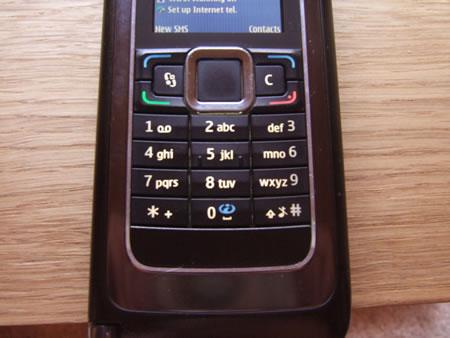 Nokia E90 keypad when closed