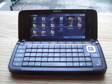 The Nokia E90 Communicator, about to be reviewed